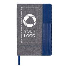 Bullet™A5 notesbog med side i meleret læderpræg
