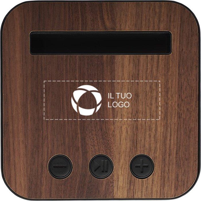 Altoparlante Bluetooth® in tessuto e legno Shae Avenue™