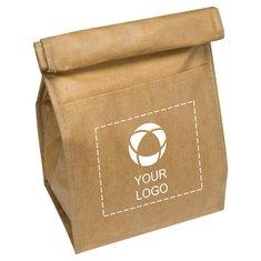 Sac-repas isotherme pour six canettes en forme de sac en papier brun