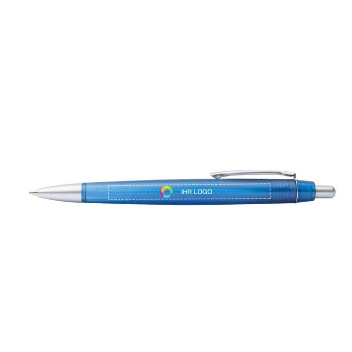 Kugelschreiber Albany mit blauer Tinte und Vollfarbdruck