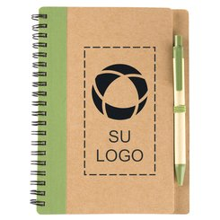 Libreta Eco con espiral y bolígrafo