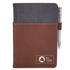 Alternative® Canvas Leather Wrap Bound Notebook
