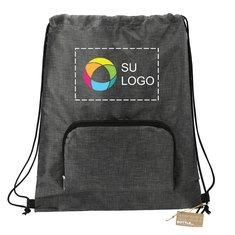 Bolsa con cordón de cierre Ash reciclada plegable