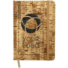 "Bullet 5"" x 7"" Cork Bound Notebook"