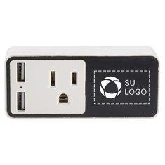 Enchufe inteligente con WiFi, logotipo iluminado y salida USB