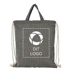 Bullet™ Pheebs rygsæk med løbesnor i genbrugsbomuld på 150 g/m²