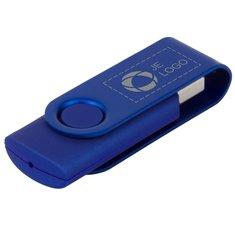 Roterende Lasergegraveerde Metallic USB 4GB