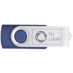 Memoria USB giratoria básica de 4 GB grabada con láser