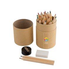 Coffret de crayons de couleur 26pièces Woodby de Bullet™ imprimé en couleur