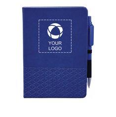 "5"" x 7"" Geo Notebook with Pen"