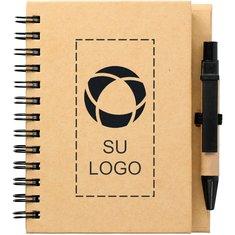 """Libreta ecológica Stone 4"""" x 5"""" con bolígrafo"""