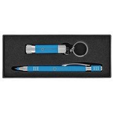 Ensemble cadeau de stylo à encre bleue Maya
