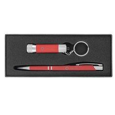 Ensemble cadeau de stylo à encre noire gravé au laser à prise douce Tres-Chic & Chroma