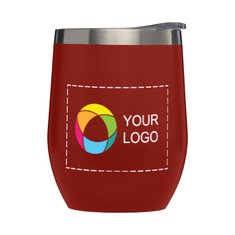 11 oz. Stainless Steel Wine Cup with Lid Full Color
