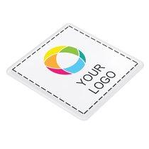 Sous-verre en plastique carré avec insert imprimé en couleur