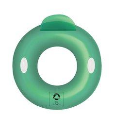 Flotador hinchable con respaldo y forma de anillo