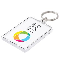 Rectangular Keyring Full Colour Insert Print