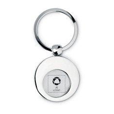 Euring ronde metalen sleutelhanger