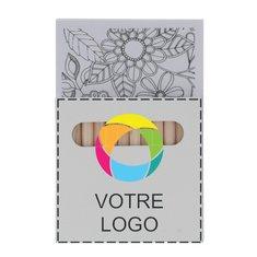 Coffret de coloriage Paint & Relax imprimé en couleur
