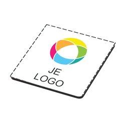 Houten onderzetter met full-colour drukwerk
