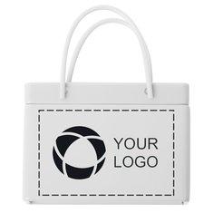 White Shopping Bag Tin with Mints