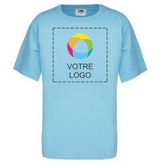 T-shirt en coton épais HDMC 140g (5oz) Fruit of the LoomMD pour jeunes avec impression à l'encre