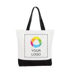 Klassische Baumwolltragetasche– Deluxe, zweifarbig