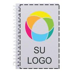 Libreta con espiral con impresión digital a todo color y páginas con renglones