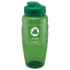 Hydrate 30 oz. Sports Gripper Water Bottle - Eco-Polyclear