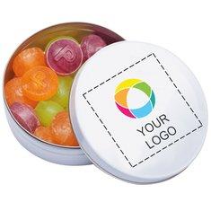 Caramelline alla frutta Pulmoll in scatolina tascabile, confezione da 100 pezzi