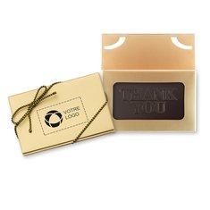 Carte d'affaires/chocolat «Merci», carton de 50