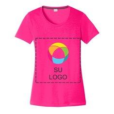 Camiseta de algodón con cuello amplio Sport-Tek® PosiCharge® Competitor™ Cotton Touch para mujer para impresión a tinta