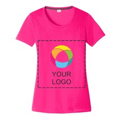 Sport-Tek® Ladies PosiCharge® Competitor™ Cotton Touch Scoop Neck Ink Printed Tee