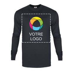 T-shirt à manches longues en coton épais HDMC 140 g (5 oz) Fruit of the LoomMD avec impression à l'encre