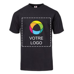 T-shirt en coton épais HDMC 140 g (5 oz) Fruit of the LoomMD avec impression à l'encre