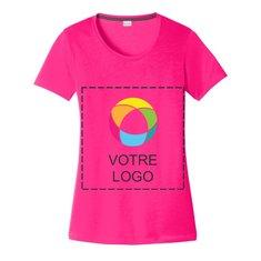 T-shirt Cotton Touch imprimé à l'encre à encolure dégagée pour femme CompetitorMC PosiChargeMD de Sport-TekMD