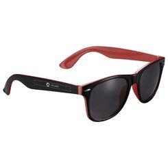 Bullet™ Sun Ray sorte solbriller med kontrastfarve