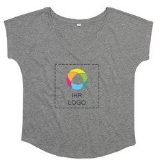 Damen-T-Shirt mit V-Ausschnitt in lockerer Passform von Mantis™