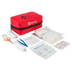 StaySafe Travel First Aid Kit with Alcohol Pads and Antiseptic Wipes
