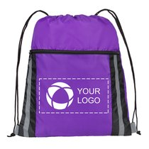 The Deluxe Reflective Drawstring Cinch Bag