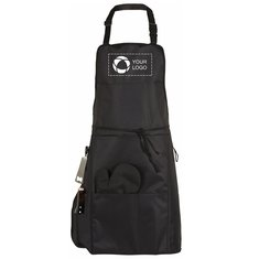 Bullet BBQ Apron with Grilling Mitt and Bottle