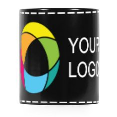 Full Colour Wrap Print Black Mug