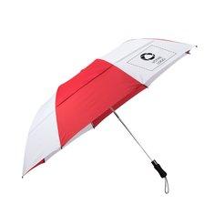 Parapluie de golf pliable à fente et à ouverture automatique