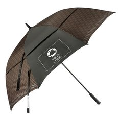 "Cutter & Buck® 64"" Plaid Golf Umbrella"