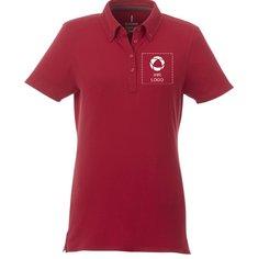 Damen-Poloshirt Atkinson mit Kurzarm und Button-Down-Kragen von Elevate™