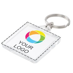 Square Keyring Full Color Insert Print