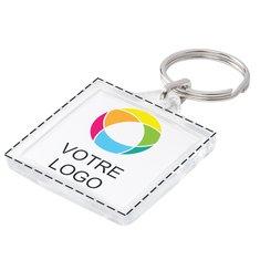 Porte-clés carré avec image en couleur