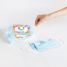 Masques jetables– Étiquette personnalisée (paquet de 10)