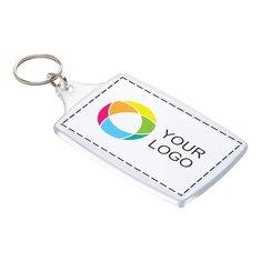 Stor nyckelring med inlägg i fyrfärg