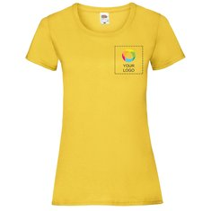 Fruit of the Loom® Ladies' Valueweight T-shirt with Left Chest and Full Back Ink Print